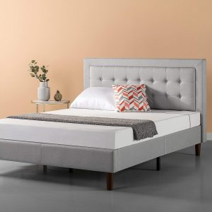 Zinus Premium Button Tufted Platform Bed